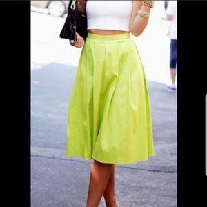 424 Fifth Lord & Taylor Taffeta A-Line Midi Skirt